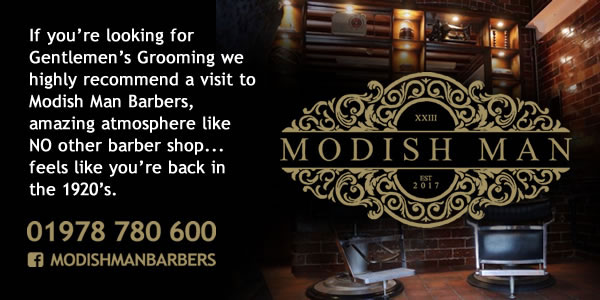 If you're looking for Gentlemen's Grooming we highly recommend a visit to Modish Man Barbers, amazing atmosphere like NO other barber shop... feels like you're back in the 1920's. 01978 780 600
